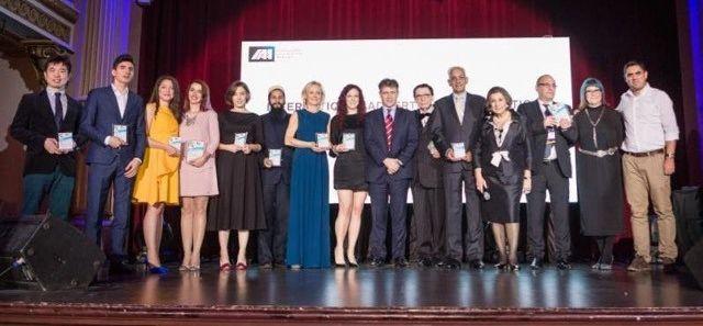 2017 IAA Inspire Awards winners at the gala presentation ceremony in Bucharest