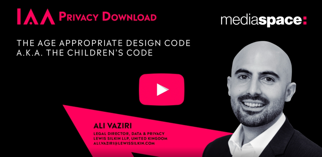 IAA|The Age Appropriate Design Code a.k.a The Children's Code Category - Marketing Aide